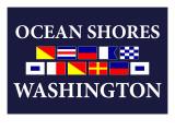 Ocean Shores, Washington - Nautical Flags Posters by  Lantern Press