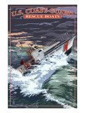 U.S. Coast Guard - 44 Foot Motor Life Boat Premium gicléedruk van  Lantern Press