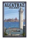 Alcatraz Island and City - San Francisco, CA Poster by  Lantern Press