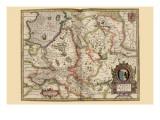 Karte von Transylvania, Roumania Poster von Pieter Van der Keere