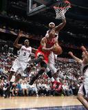 Chicago Bulls v Atlanta Hawks - Game Three, Atlanta, GA - MAY 6: Derrick Rose and Josh Smith Foto af Scott Cunningham