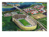 Cambridge, Massachusetts - Harvard University; Aerial of Stadium Pôsters por  Lantern Press