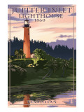 Jupiter Inlet Lighthouse - Jupiter, Florida Prints by  Lantern Press