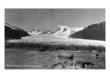 Alaska - View of Mendenhall Glacier Poster von  Lantern Press