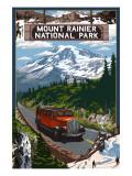 Mount Rainier-Nationalpark Kunst von  Lantern Press