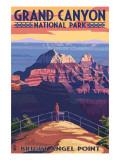 Grand Canyon National Park - Bright Angel Point Posters por  Lantern Press