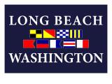 Long Beach, Washington - Nautical Flags Prints by  Lantern Press
