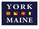 York, Maine - Nautical Flags Prints by  Lantern Press