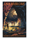 Lava River Cave - Lava Lands, Oregon Kunstdrucke von  Lantern Press