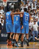 Oklahoma City Thunder v Memphis Grizzlies - Game Four, Memphis, TN - MAY 9: Russell Westbrook, Jame Fotografia por Joe Murphy