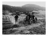 Drilling Rock, Montana, 1916 Reproduction procédé giclée par Asahel Curtis