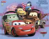Film Cars 2, poster met diverse auto's Print