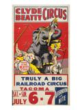"""Clyde Beatty Circus; Truly Big Railroad Circus"", 1935 Giclée-Druck"