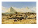 A Prayer by the Sphinx Giclée-tryk af Marius Alexander Bauer