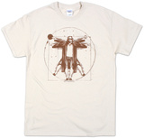 Big Lebowski, de mens van Vitruvius T-Shirt