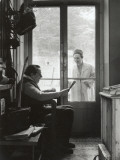 Arletty with Louis-Ferdinand Céline, April 14, 1958 Fotografisk trykk av Luc Fournol