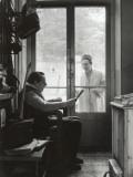 Arletty with Louis-Ferdinand Céline, April 14, 1958 Impressão fotográfica por Luc Fournol