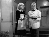 Jean Gabin and Mireille Darc: Monsieur, 1964 Fotografisk trykk av Marcel Dole