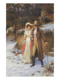 The Morning Walk Giclee Print by George Sheridan Knowles