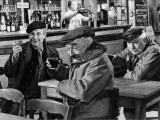 Jean Gabin, Pierre Fresnay and Noël-Noël: Les Vieux de La Vieille, 1960 Valokuvavedos tekijänä Marcel Dole
