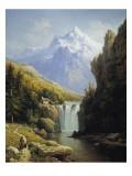 View of the Johannisberg Giclee Print by Charles Kuwasseg