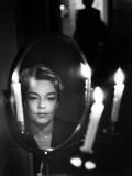 Simone Signoret (1921-1985) Fotografisk trykk av Luc Fournol
