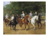 The Morning Ride Giclée-tryk af Heywood Hardy