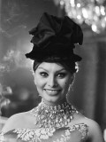 Sophia Loren in a Christian Dior dress Fotografisk trykk av Luc Fournol