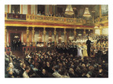 The Vienna Opera Impressão giclée por Auguste Mandlick