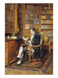 In the Library Giclee Print by Johann Hamza