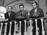 Charles Aznavour, Etienne Bierry and Jean-Louis Trintignant: Horace 62, 1962 Fotografie-Druck von Marcel Dole
