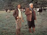 Jean Gabin and Michel Barbey: La Horse, 1970 Fotografisk trykk av Marcel Dole