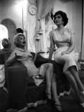 Gina Lollobrigida and Martine Carol Impressão fotográfica por Luc Fournol
