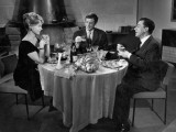 Jean-Paul Belmondo, Paul Meurisse et Dany Robin : La Française et l'Amour, 1960 Reproduction photographique par  Limot