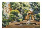 A Garden in Seville Reproduction procédé giclée par Manuel Garcia Y Rodriguez