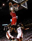 Chicago Bulls v Miami Heat - Game Four, Miami, FL - MAY 24: Derrick Rose, LeBron James and Udonis H Foto von Mike Ehrmann