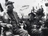 Jean Gabin and Fernandelshooting Picture: L'Âge Ingrat, 1964 Fotografisk trykk av Marcel Dole