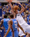 Oklahoma City Thunder v Dallas Mavericks - Game Two, Dallas, TX - MAY 19: Dirk Nowitzki, Kendrick P Photo by Tom Pennington