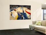 Golden State Warriors v Memphis Grizzlies: Stephen Curry and Zach Randolph Wall Mural by Joe Murphy