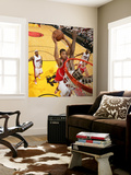 Chicago Bulls v Miami Heat - Game FourMiami, FL - MAY 24: Derrick Rose and Joel Anthony Wall Mural by Victor Baldizon