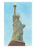 Statue of Liberty with Lights, New York City Posters
