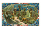 Darstellung der Boston Tea Party Giclée-Premiumdruck