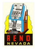 Slot Machine Graphic, Reno, Nevada Premium Giclee Print