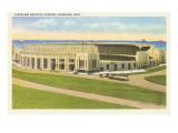 Municipal Stadium, Cleveland, Ohio Lámina giclée prémium