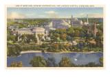Lake at Wade Park, Cleveland, Ohio Poster
