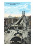Williamsburg Bridge Approach, New York City Poster