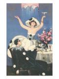 Art Deco Celebration with Pierrot Kunstdrucke