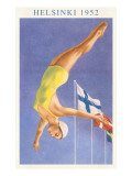 Olympic Diving, Helsinki, Finland, 1952 Poster