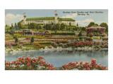 Rosengarten und Hotel von Hershey, Hershey, Pennsylvania Kunstdrucke