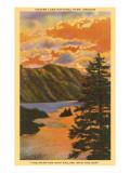 Sunset over Crater Lake, Oregon Kunstdrucke